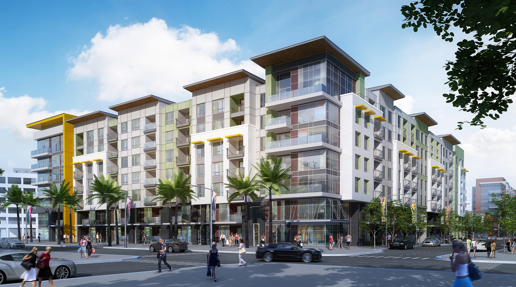 A rendering of the Ariva 4 project recently awarded to general contractor, Wermers Multi-Family Corporation.