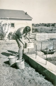 James J. Wermers lays the corner stone of his first construction project in La Mesa. James J. Wermers began the company's legacy in construction by building single family homes in 1957.
