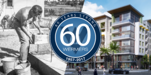 In 1957, James J. Wermers laid the foundation of Wermers Construction Company. Today, Wermers is an industry leader in multi-family construction and development – tackling projects in excess of $150 million. On the right side of the image is a rendering of Vive on the Park, a 550-unit project located at Spectrum Center Boulevard, Kearny Mesa. Wermers Multi-Family Corporation is the general contractor of the project.